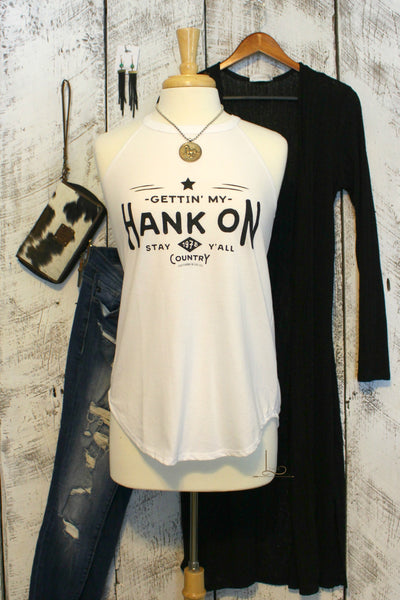 Gettin' My Hank On Graphic Tank - L Trading