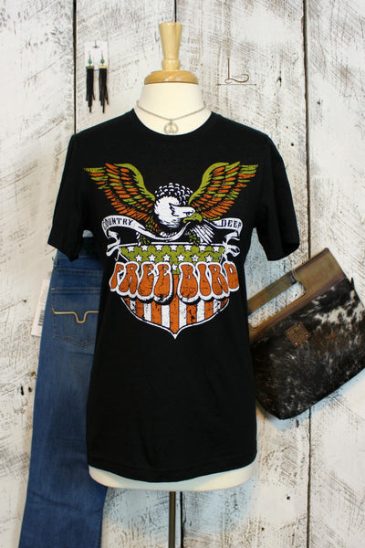 Free Bird Graphic Tee - L Trading
