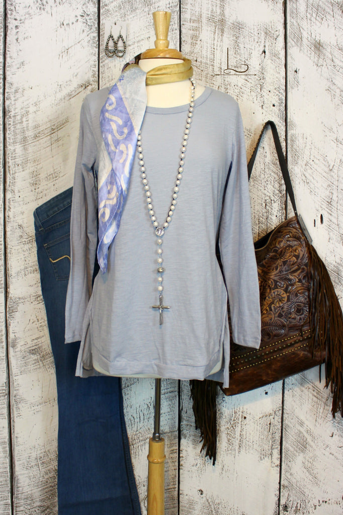 Light Blue Hi-Lo Tunic - L Trading
