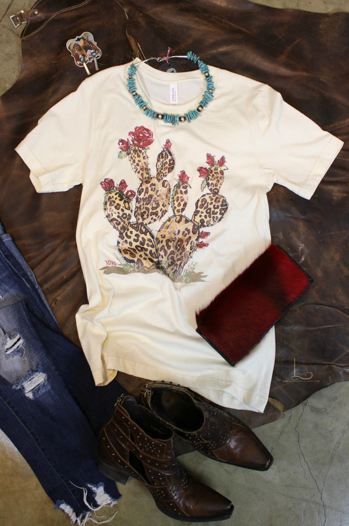 Cactus Rose ~ Graphic Tee - L Trading