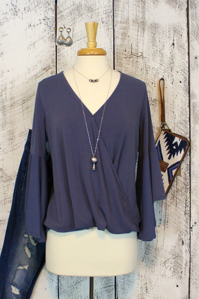 Blue Bell Sleeve Top - L Trading