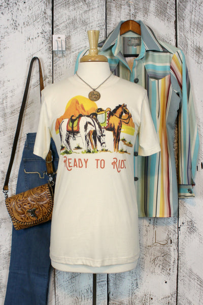 Ready To Ride Graphic Tee - L Trading