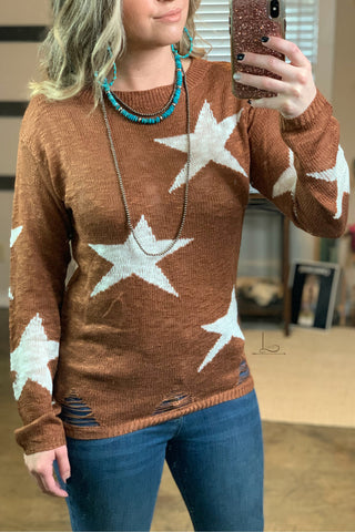 The Distressed Star Sweater