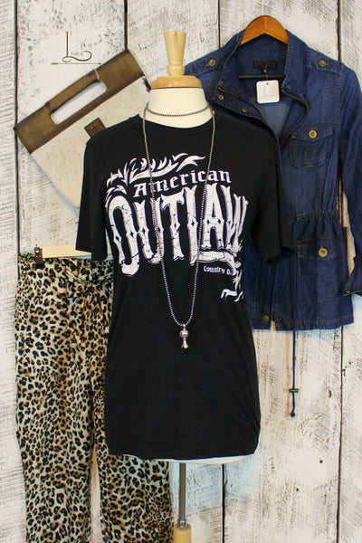 American Outlaw Graphic Tee - L Trading