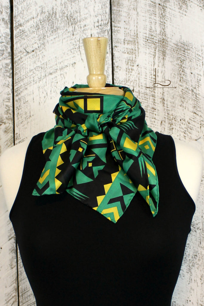 Southwest Green & Black Wild Rag - L Trading