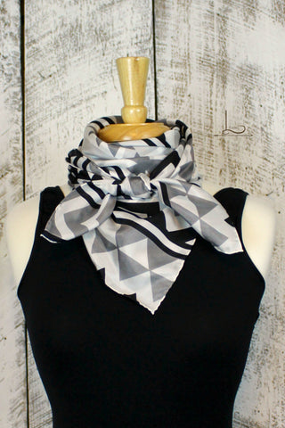 Southwest Black & Gray Wild Rag