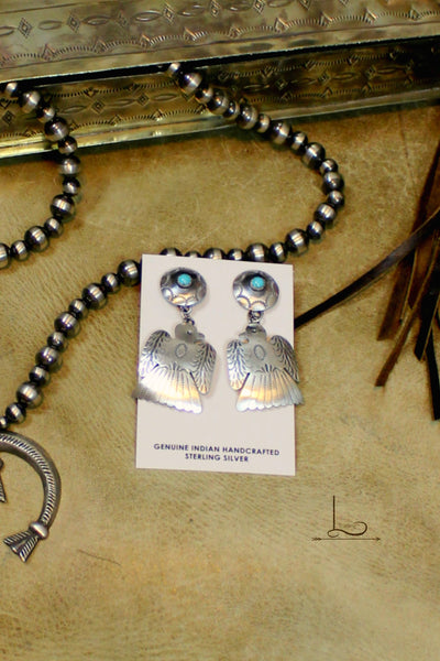 Sterling Thunderbird Earrings - L Trading