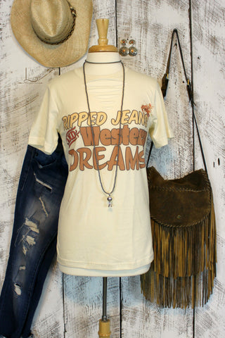 Ripped Jeans and Western Dreams ~ Graphic Tee