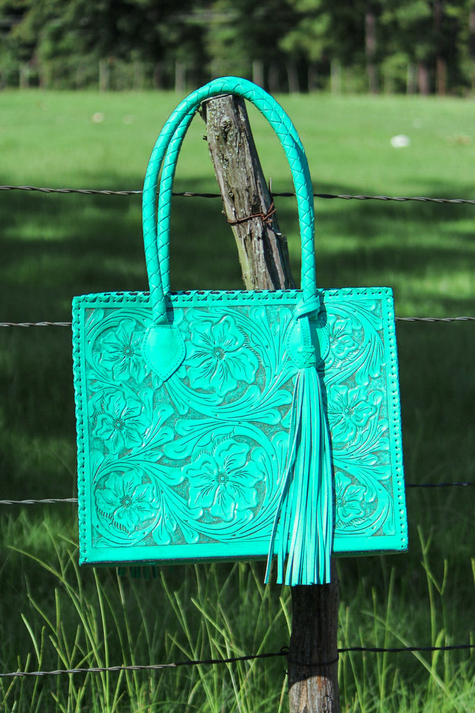 Marcos Turquoise Tote - L Trading
