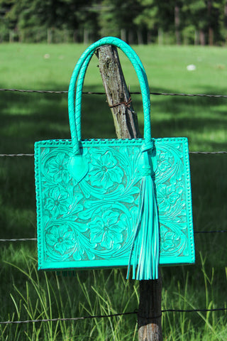 Marcos Turquoise Tote