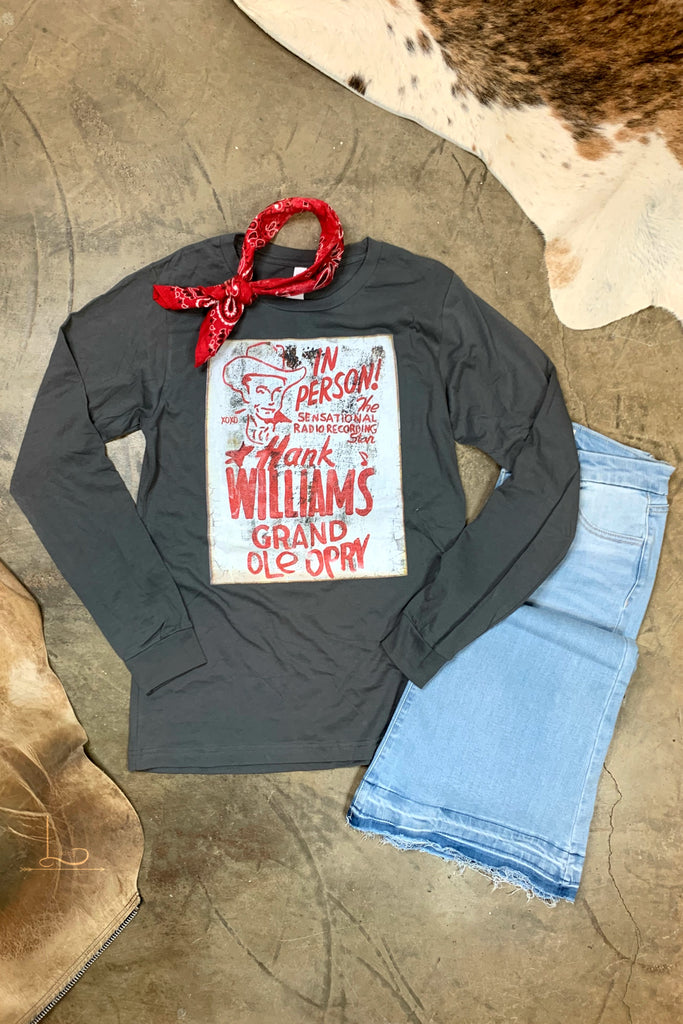 Hank Williams Graphic Long Sleeve Tee