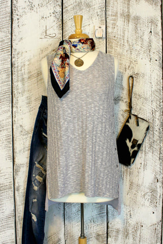 Grey Sleeveless Tunic