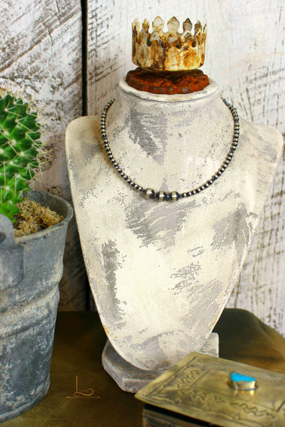 The Sterling Navajo Pearl Choker - L Trading