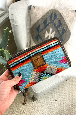 The Saltillo Rosa Wallet/Wristlet