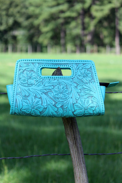 Sobre Grande Clutch in Turquoise - L Trading