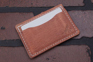 Big Hoss 2 pocket front pocket full grain leather card wallet