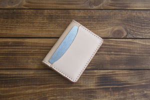 natural minimalist wallet 3 pocket