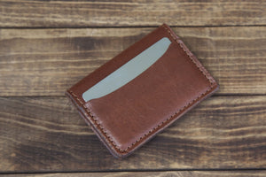 Brown 3 Pocket Card Wallet