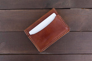 Buck Brown 3 Pocket Leather Wallet