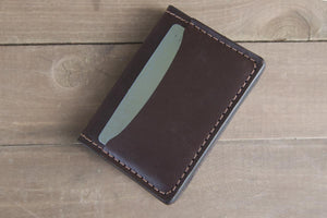 Dark Brown Bridle Leather 3 Pocket Card Wallet