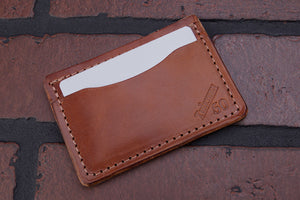 Buck Brown 4 pocket front pocket full grain leather card wallet