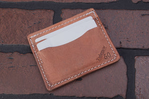 Big Hoss 4 pocket front pocket full grain leather card wallet