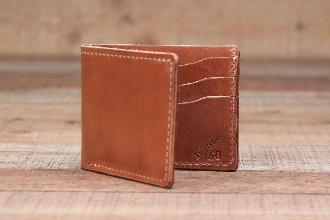 6 Shooter | Buck Brown Leather Bifold Wallet - Thirteen50 Leather
