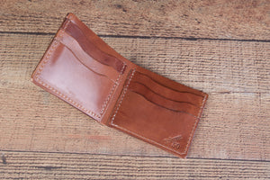 Buck Brown 6 Shooter Full Grain leather Bifold Wallet