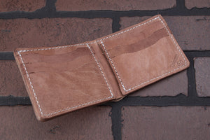 old world harness bifold wallet