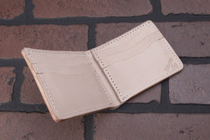 Natural 8 Pocket Full Grain leather Bifold Wallet
