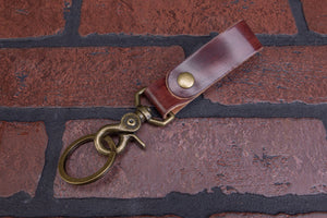 Key Fob | Streaky Brown Shell Cordovan