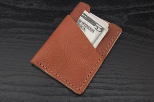 Horween Basketball Leather Wrap around leather card wallet