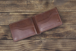 Brown Bridle Leather Bifold Wallet