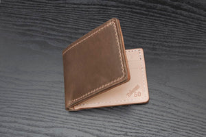 Natural Horween and Natural Veg Tanned Bifold Wallet