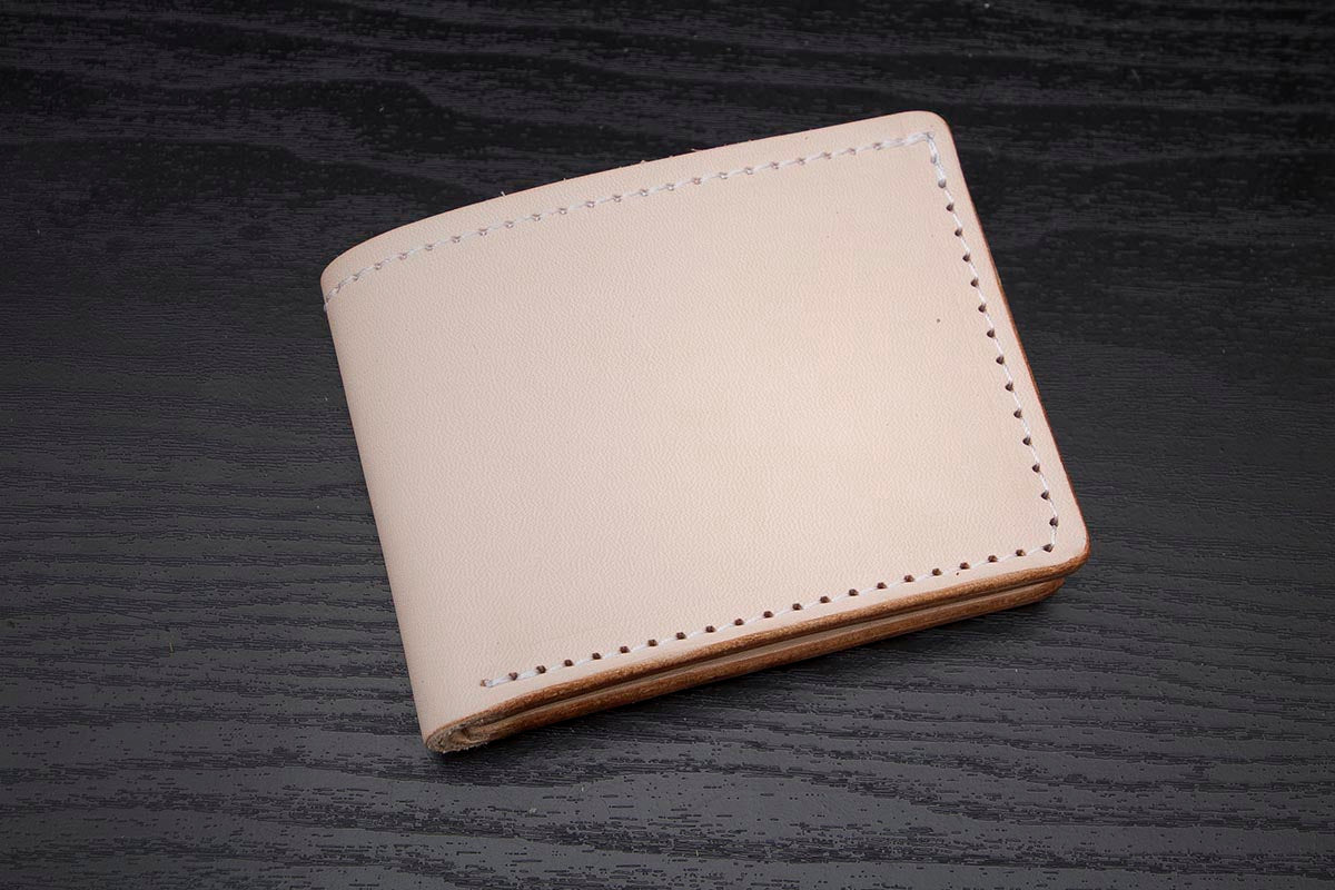 Natural Veg Tanned Bifold Leather Wallet Thirteen50 Leather