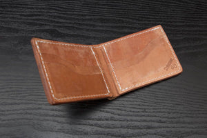 old world harness leather bifold wallet