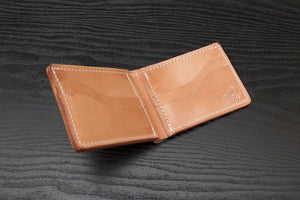 whiskey leather bifold wallet