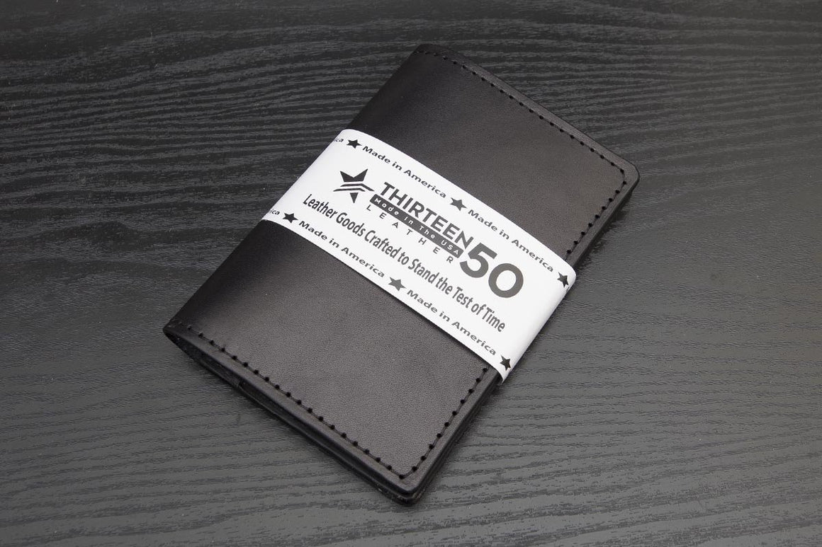 black leather traveler wallet