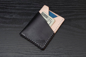 Limited | Wrap | Black + Natural Minimalist Wallet