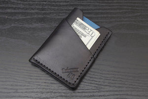 Wrap | Black Minimalist Wallet - Thirteen50 Leather