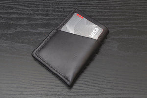 Black Wrap around leather card wallet
