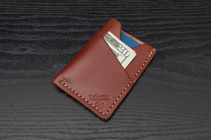 Brown Wrap around leather card wallet