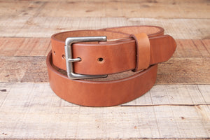 buck brown full grain leather belt