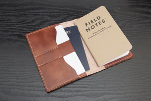 Buck Brown Full Grain Leather Traveler Wallet