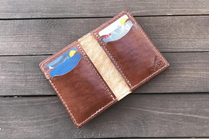 Buck Brown vert 6 pocket card wallet