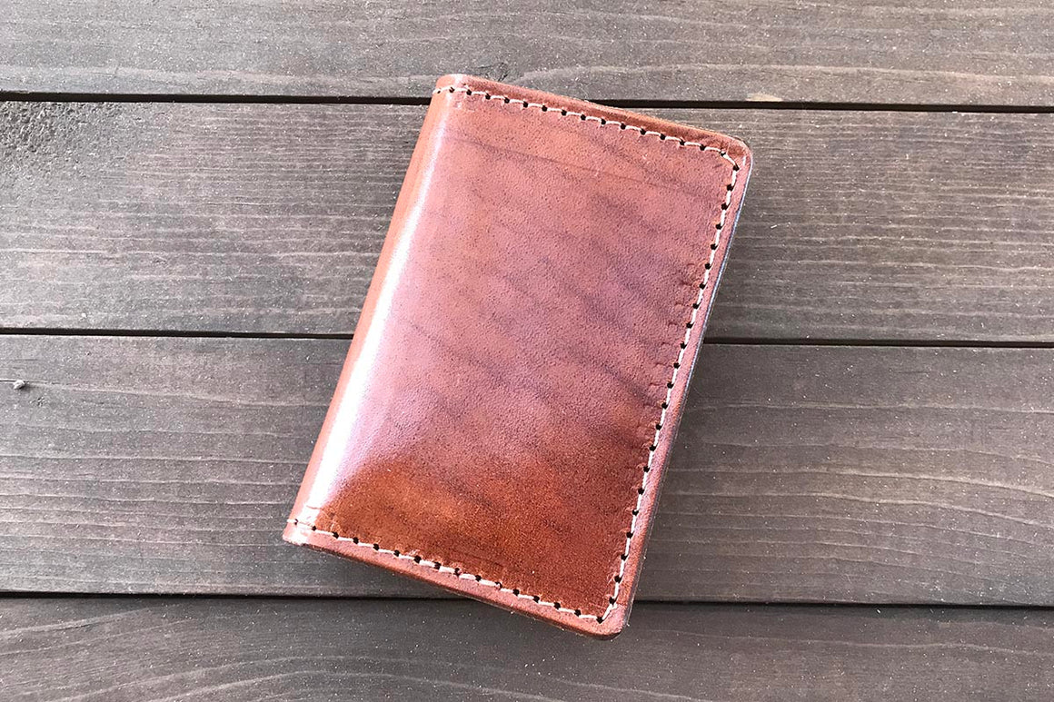 Vertical 6 Pocket | Buck Brown Wallet