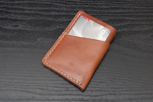 Buck Brown Wrap around leather card wallet