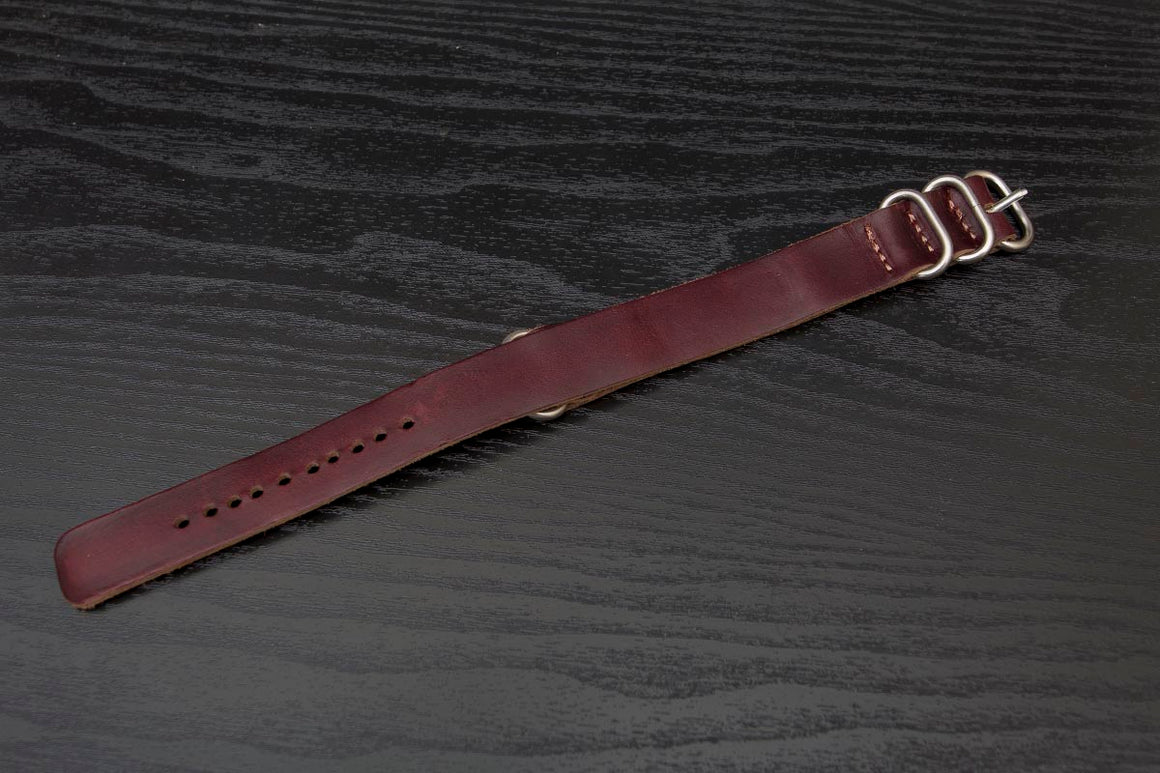 Watch Strap | Burgundy Horween Chromexcel