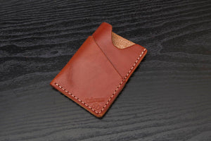 Chestnut Wrap around leather card wallet
