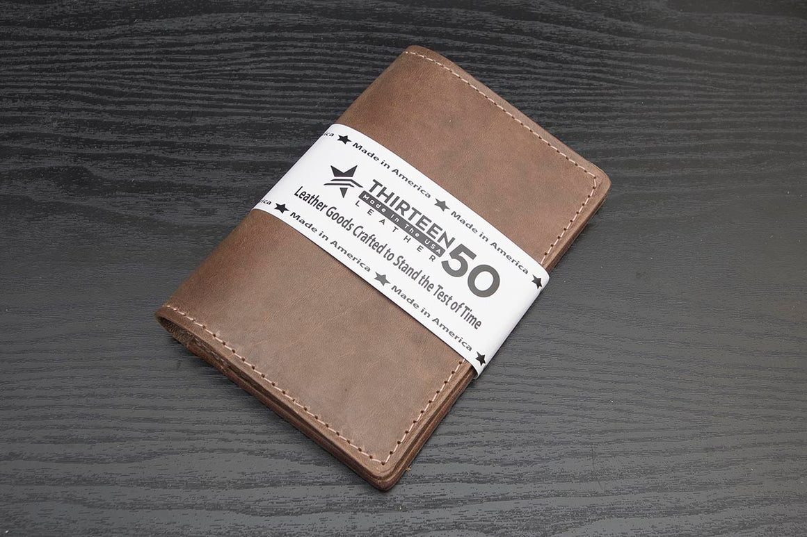 horween natural leather traveler wallet